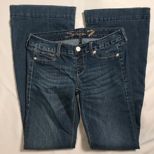 7 Seven for All Mankind FLARE 28 Diamond no zipper